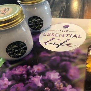 Wild oils organic soy candles (essential oils)